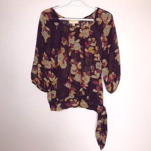 Anthro Moulinette Soeurs | Purple Floral Shirt